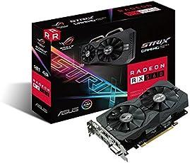 ASUS ROG-STRIX-RX560-4G-Gaming AMD Radeon Grafikkarte (PCIe 3.0, 4GB DDR5 Speicher, Aura Sync, DVI, HDMI, DisplayPort)