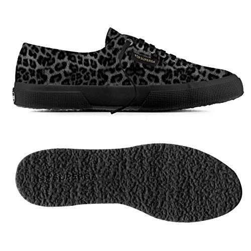 Superga 2750-LEAHORSEW Damen Hohe Sneakers Leopard Black