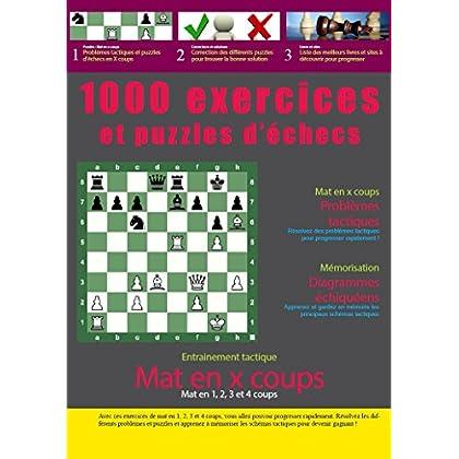 1000 exercices et puzzles d'échecs