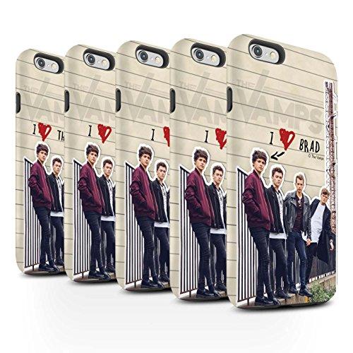 Offiziell The Vamps Hülle / Matte Harten Stoßfest Case für Apple iPhone 6 / Pack 5pcs Muster / The Vamps Geheimes Tagebuch Kollektion Pack 5pcs