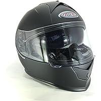 Caschi Integrali - VIPER V8 STEREO SPEAKER Casco moto scooter, Casco integrale con parasole, Nero Opaco
