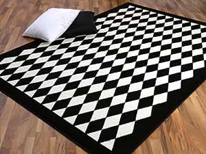 teppich trendline schwarz wei raute 4 gr en. Black Bedroom Furniture Sets. Home Design Ideas