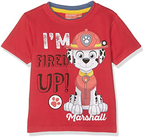 Nickelodeon Boy's Paw Patrol T-Shirt, Red, 6 Years