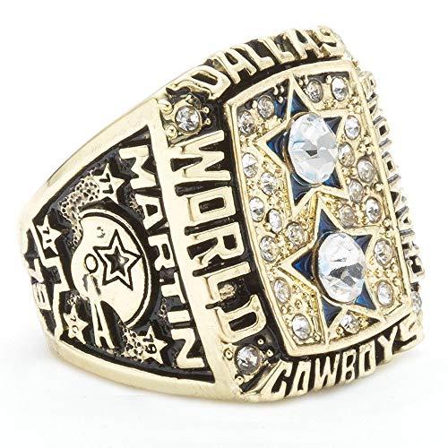 J-Z die Dallas Cowboys Championship Rings von 1977 für Männer, Gold, 11