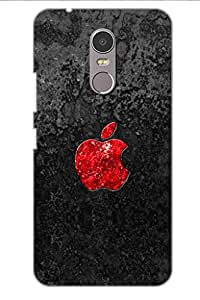 SRS Red Apple 3D Back Cover for Lenovo K6 Note