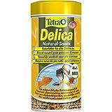 TetraDelica Natural Snack 4-in-1-Mix (Naturfutter-Mischung vier separaten Fächern für alle Zierfische, Wasserflöhe Artemia Krill Gammarus), 250 ml Dose