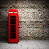 YUSDK Carta da Parati Europea Mattone Antico 3D Stereo Cabina telefonica Grande murale Vento Industriale nostalgico Bar ktv Carta da Parati, 100 * 70cm = 42