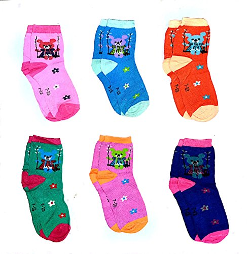 Light Gear Premium Cotton Woolen Mix Baby Boys / Girls Socks (1 to 5 Yrs) Pack o 6 Pairs (6-12 months)
