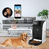 WOPETS APP Automatischer Futterautomat mit Echtzeit-Kamera, Sprachaufnahme, Timer für Hunde ( Groß, Mittel und Klein ) und Katzen - 4