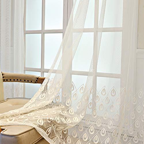 1 Paar 148*206cm durchsichtig Grau Gardinen Gardinenschals vorhänge Fenster