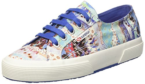 Superga 2750-fabriclibertyw, Sneakers basses femme Multicolore (Landscape/Azure)