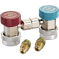 Magiin AC R134A Ajustable Acoplador Rpido Conector Adaptador Lado Alto Lado Bajo Sistema de Aire Acondicionado para Auto Vehículo