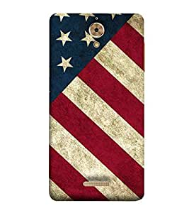 For Coolpad Mega 25D white star, stripes, brown background Designer Printed High Quality Smooth Matte Protective Mobile Case Back Pouch Cover by APEX