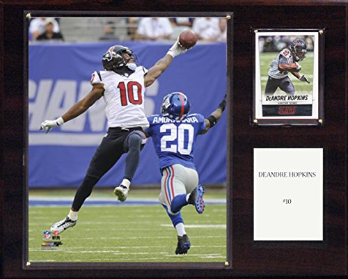 C & I Collectables 353832 NFL Houston Texans Deandre Hopkins Player Plaque, 12 x 15 Zoll, Braun