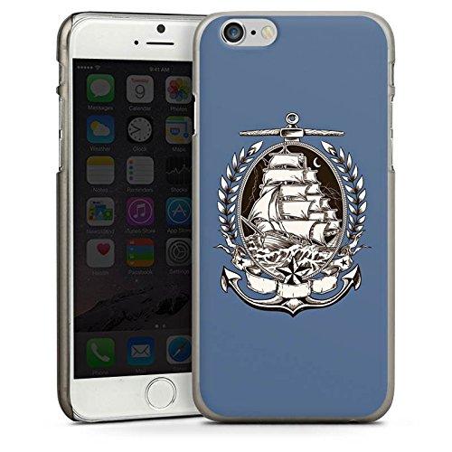 Apple iPhone 5 Housse étui coque protection Bateau Mer Marin CasDur anthracite clair