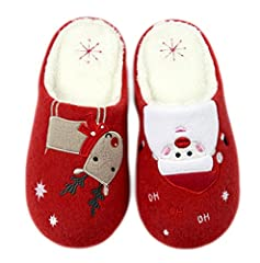 Idea Regalo - Auspicious beginning Unisex Uomo Donna Santa Stampato Scarpe Inverno Natale Festa Vacanza Pantofole Stivaletti alla Caviglia Caldi