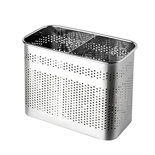 Stainless Steel Cutlery Utensil Holder (Medium Square)
