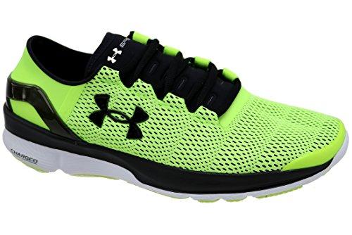 Under Armour Speedform Turbulence, Sneaker Uomo, Mehrfarbig (Black,Green 001), 45.5 EU