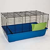100cm Rabbit Guinea Pig Indoor Cage Hutch Bed Metal Pet Small Animal - Includes Hay Rack