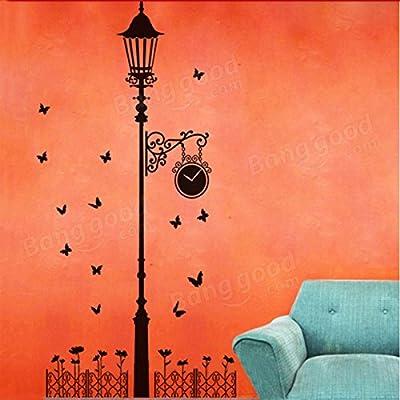ShopSquare64 Zaun-Straßen-Licht-Schmetterlings-Wand-Aufkleber-entfernbares Abziehbild von ShopSquare64 bei Gartenmöbel von Du und Dein Garten