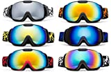Cloud 9 - Professional Kids Boys and Girls Snow Goggles Vulture Anti-Fog Dual Lens UV400 Protection Triple Layered Foam Snowboarding Ski Goggles Multi Popular Colors (1 Pair Only,Choose Your Color)
