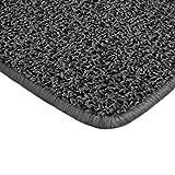 Floori Shaggy Hochflor Teppich - 160x230cm - moderner Wohnzimmerteppich - schwarz