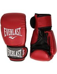 Everlast 1803 Rodney - Guantes de PVC para boxeo, color rojo / negro - 30 cm