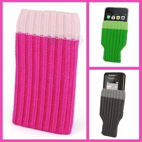 Incutex Handysocke Textilsocke Handy Sleeve pink Handytasche aus Textil für iPhone 3 4 5 iPod MP3-Player usw.