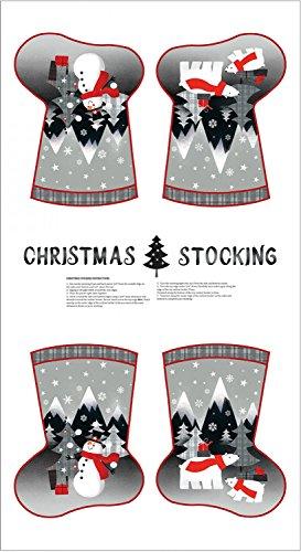 Paint Brush Studio Pinsel Studio Weihnachtsstrumpf Stoffbahn-Weihnachten Schneemann Weihnachtsstrumpf Panel-Weihnachten Stoff-pbs07-Panel ist 60cm x 110cm -