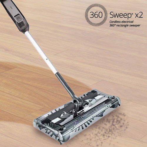 Sweeper Pro Akku Kehrbesen | Um 360° drehbar, so dass jede Ecke sauber wird