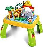 Spieltisch mit Figuren / Zoo / Lego kompatibel / Tiere