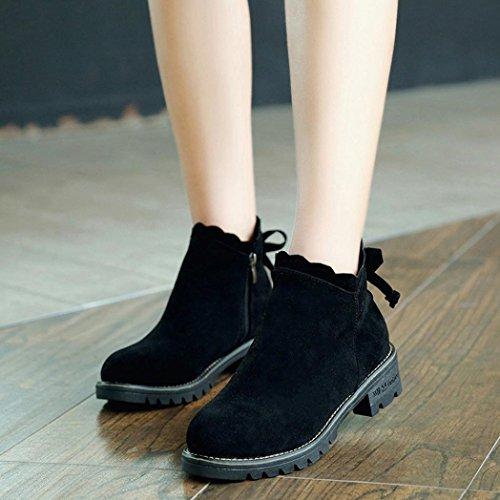 Noir Papillon Mode Femmes Chaussures Transer® Bas Cheville De w4FRxEvqxC
