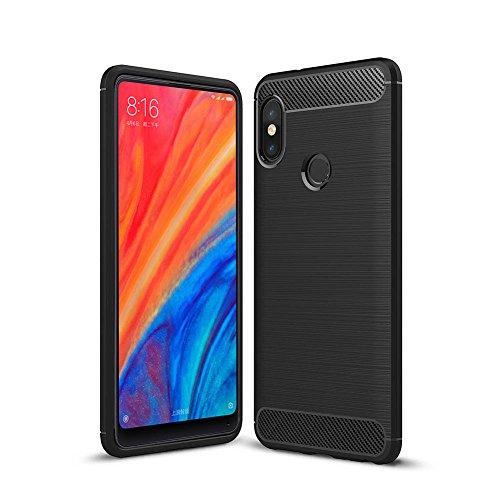 Cover Xiaomi Mi Mix 2s Custodia Xiaomi Mi Mix 2s TopACE Ultra Slim Molle di Sottile Custodia struttura in fibra di carbonio per Xiaomi Mi Mix 2s (Nero)