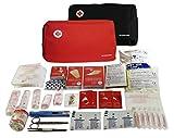 Botiquín SUPER ROL primeros auxilios con 120 artículos (TERMÓMETRO, BOLSA FRÍO INSTANTÁNEO, MANTA ISOTÉRMICA,…) Rojo