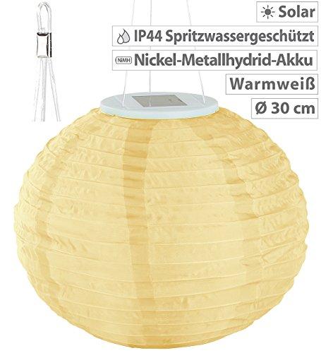Lunartec Solar Laternen Lampions: Solar-LED-Lampion, Dämmerungs-Sensor, IP44, warmweiß – 3er-Set - 4