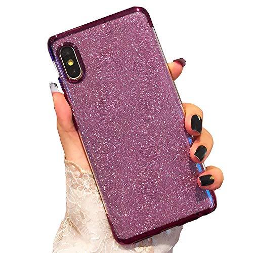 Miagon 2-1 Glitzer Hülle für {Samsung Galaxy A7 2018},Luxus Glitzer Bling Überzug Hülle Handyhülle Slim Case Schale Leicht Dünn Schutzhülle Glänzendes