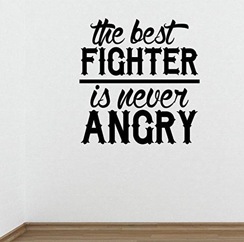 Preisvergleich Produktbild Die besten Fighter ist nicht böse Gym Wand Aufkleber Motivational quote-health und Fitness Kettlebell Crossfit Workout Boxen UFC MMA
