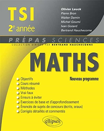 Maths TSI 2e Anne Programme 2014
