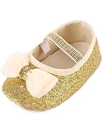 K-youth® Zapatos de Bebé Recién Nacido Zapatos Primeros Pasos Bebe Niña Lentejuelas Paño Zapatos Bebe Niña Suela Blanda Zapatos…