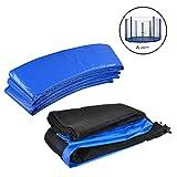 ULTRAPOWERSPORTS Coussin de protection Coussin de Ressorts +Filet de sécurité pour trampoline Kit - Filet et Coussin de Ressorts Trousse (Dimensions à choisir) - Bleu