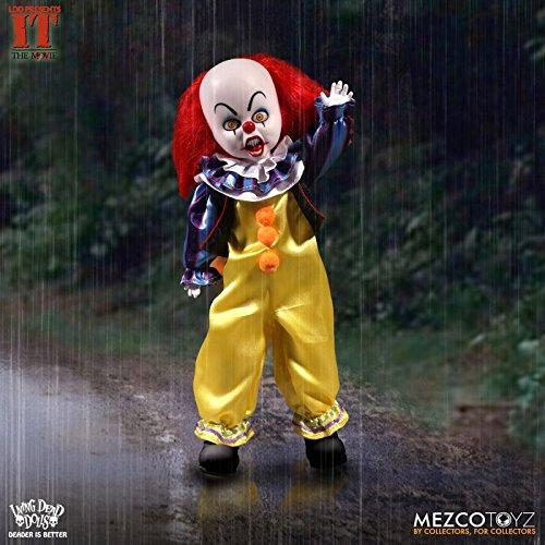 Figura Bambola di PENNYWISE il Clown 25cm da IT THE MOVIE Serie LIVING DEAD DOLLS Mezco - 100% ORIGINALE e UFFICIALE Bob Gray Stephen King