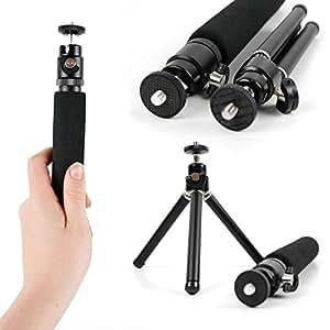 Trépied/Perche Selfie DURAGADGET 2 en 1 extensible pour appareil photo Canon Powershot N2, SX610 HS, SX710 HS