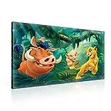 König Der Löwen Simba Nala Timon Pumbaa Leinwand Bilder (PPD2202O1FW) - Wallsticker Warehouse - Size O1 - 100cm x 75cm - 230g/m2 Canvas - 1 Piece