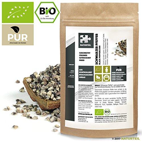 Naturteil - SCHWARZER PFEFFER GESCHROTET BIO / Black Pepper Shredded Organic - 100g