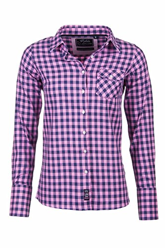 Rydale, camicia Hannah da donna stile country a quadretti Holly Navy