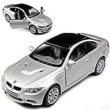 Kinsmart BMW 3er E92 M3 Coupe Silber Mit Karbon Dach 2005-2012 ca 1/43 1/36-1/46 Modell Auto