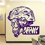 xingbuxin Adesivo murale Freddo Esercito Adesivi murali in PVC Adesivi murali Accessori per la Decorazione Domestica per Soggiorno Camera da Letto 4 L 43 cm X 41 cm