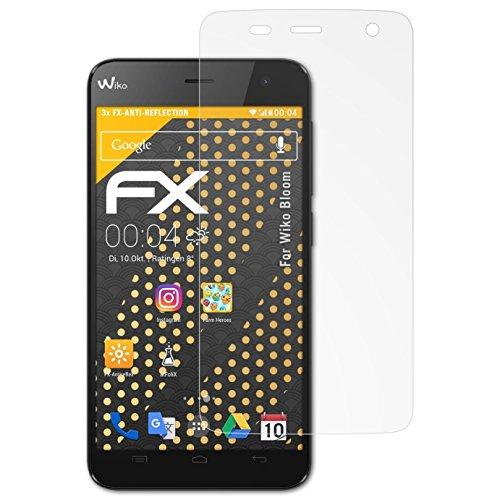 atFolix Panzerfolie kompatibel mit Wiko Bloom Schutzfolie, entspiegelnde und stoßdämpfende FX Folie (3X)