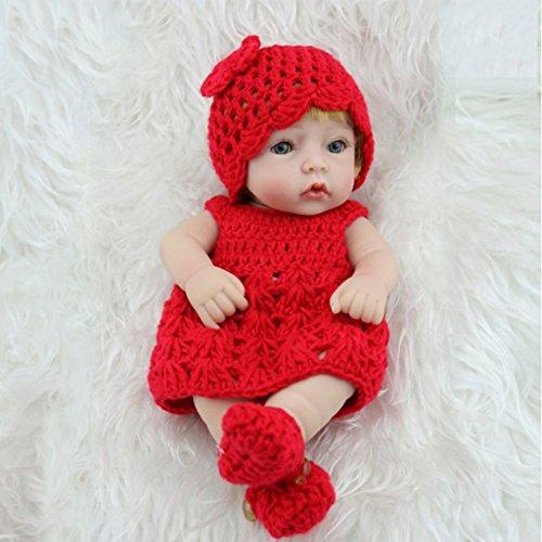 autone 25,4cm Cute Girl Silikon Reborn realike Baby Puppen, handgefertigt lebensecht Silikon Vinyl Full Body Wasserdicht Mädchen Puppe Weihnachts Geburtstag Geschenk (Br-baby-puppe)