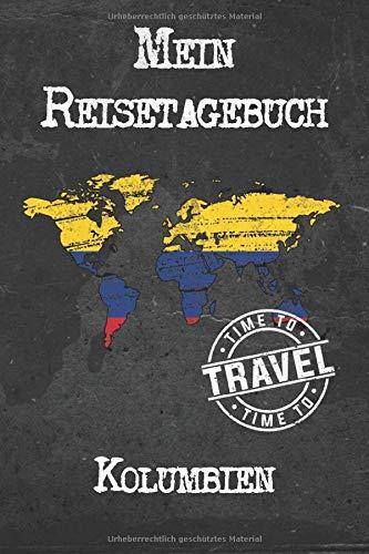 Mein Reisetagebuch Kolumbien: 6x9 Reise Journal I Notizbuch mit Checklisten zum Ausfüllen I Perfektes Geschenk für den Trip nach Kolumbien für jeden Reisenden
